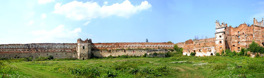Panorama old wall Royalty Free Stock Photo
