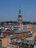 Panorama of old Zamosc, Poland Stock Photos