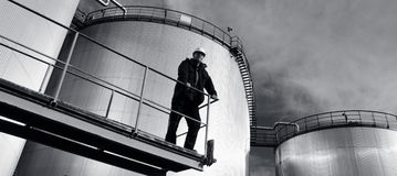panorama- olja för gasindustri Royaltyfria Bilder