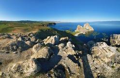 Panorama of Olkhon Island at Baikal Lake Royalty Free Stock Photography