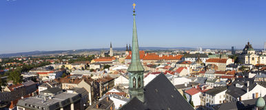 Panorama of Olomouc city, Czech republic Royalty Free Stock Images