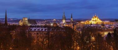 Panorama of Olomouc. At night. Olomouc, Olomouc Region, Czech Republic Stock Images