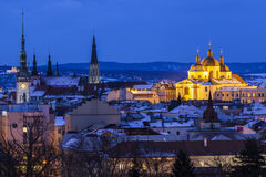 Panorama of Olomouc Stock Photography