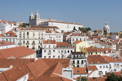 Panorama of ols lisbon old town Stock Photography