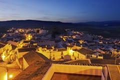 Panorama Olvera w Hiszpania Obraz Stock