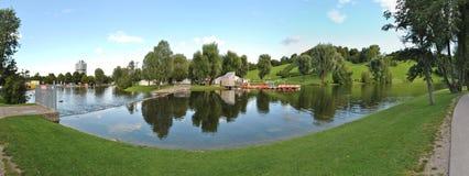 Panorama Olympiapark Monachium Fotografia Stock