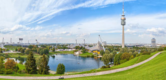 Panorama of Olympic park in Munich. Germany Stock Photography