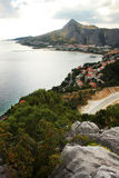 The panorama of Omis, Croatia Stock Photography