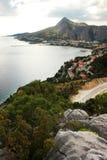 The panorama of Omis, Croatia Stock Photography