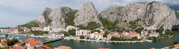 Panorama of Omis Royalty Free Stock Image