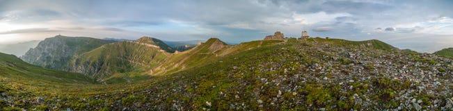 Panorama at Omu Peak stock images