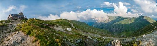 Panorama an Omu-Spitze stockfotografie