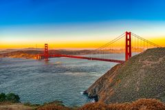 Free Panorama On San Francisco And The Gold Gate Bridge Stock Photo - 139820870