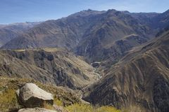 Panorama op Canion Colca Royalty-vrije Stock Foto's