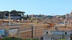 Panorama op de daken van Rome, Italië Rome, Italië Het filteren van schot stock videobeelden