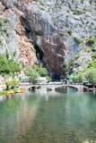 Panorama op de rivier van Blagaj Buna Royalty-vrije Stock Afbeeldingen