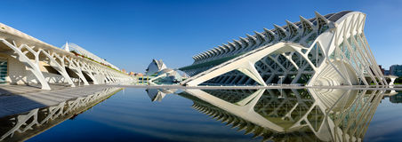 Panorama op de stad van kunsten en wetenschappen Valencia, Spanje royalty-vrije stock foto's