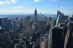 Panorama op de Stad van New York vanaf Bovenkant van de Rots royalty-vrije stock foto's