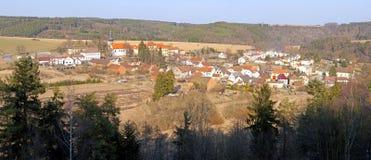 Panorama op een dorp Royalty-vrije Stock Foto