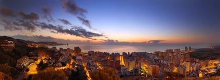 Panorama op een Spaanse stad Royalty-vrije Stock Afbeeldingen