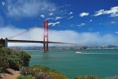 Panorama op Golden gate bridge, San Francisco Stock Foto's