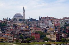 Panorama op Istanboel Royalty-vrije Stock Fotografie