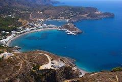 Panorama op Kythera-eiland Stock Afbeelding