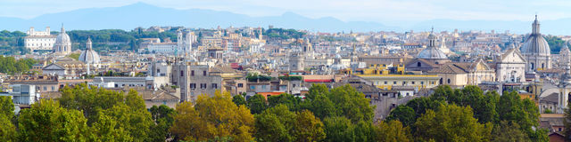 Panorama op Rome, Italië Stock Fotografie