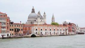 Panorama op Venetië van Boot, Italië stock video