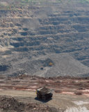 Panorama of an open-cast mine Stock Photo