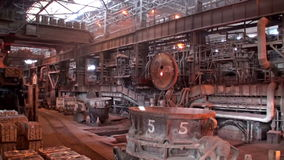 Panorama of the open-hearth workshop stock footage