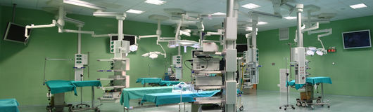Panorama of operating room Royalty Free Stock Image