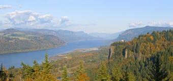 Panorama Orégon de gorge du fleuve Columbia. image libre de droits