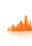 Panorama of orange city  Stock Images