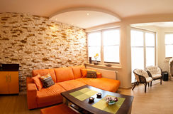 Orange room panorama Stock Photo