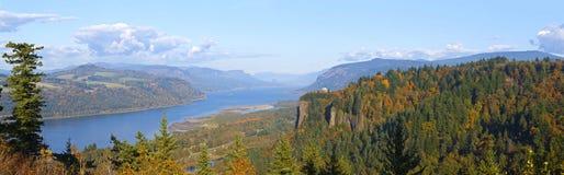 Panorama Oregon do desfiladeiro do Rio Columbia. Imagens de Stock