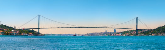 Ponte di Costantinopoli Bosphorus Immagine Stock