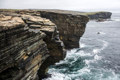 Panorama Orkney coastline Yesnaby cliff landscape 2 Royalty Free Stock Photos
