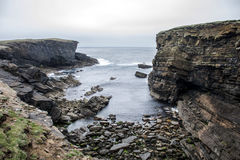 Panorama Orkney coastline Yesnaby cliff landscape 5 Stock Photo