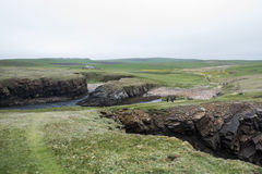 Panorama Orkney coastline Yesnaby cliff landscape 6 Stock Photo