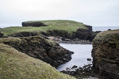 Panorama Orkney coastline Yesnaby cliff landscape 4 Stock Photo