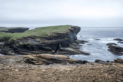 Panorama Orkney coastline Yesnaby cliff landscape 3 Royalty Free Stock Photos