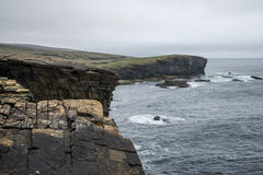 Panorama Orkney coastline Yesnaby cliff landscape Royalty Free Stock Photography