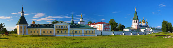 Panorama of the orthodox monastery Royalty Free Stock Photos