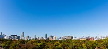 Panorama Osaka miasto Zdjęcie Royalty Free