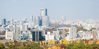 Panorama of Osaka Stock Image