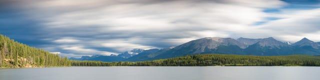 Panorama Ostrosłup jezioro - Długa ujawnienie wersja Zdjęcia Stock