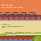 Panorama ou vista lateral do trem, locomotiva com vagões ilustração royalty free