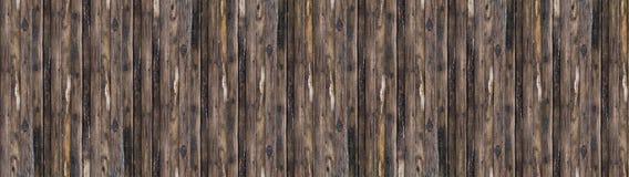 Panorama oude grijze houten raad bruin met de verticale lijnen van de patinaboom stock foto