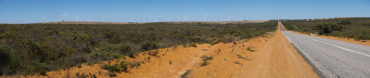 Panorama of an outback road Royalty Free Stock Photography